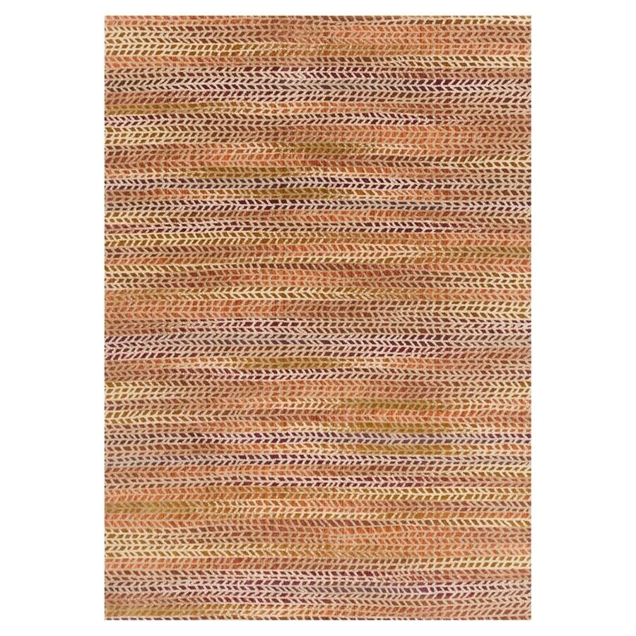 Loloi Dreamscape Orange/sunset Rectangular Indoor Machine-made Area Rug (Common: 5 X 7; Actual: 5-ft W x 7.5-ft L)