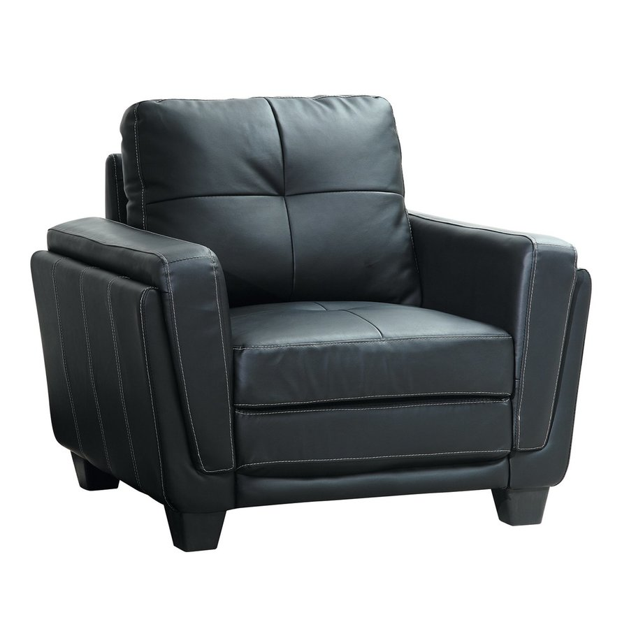 Homelegance Dwyer Casual Black Vinyl Club Chair