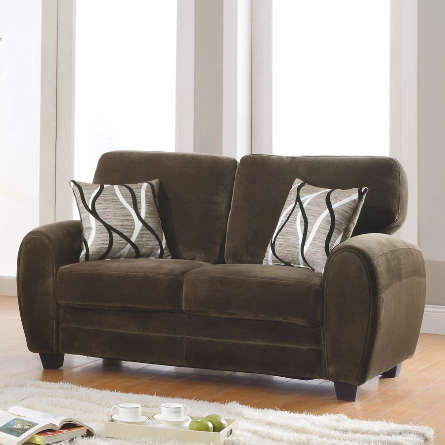 Homelegance Rubin Casual Chocolate Loveseat