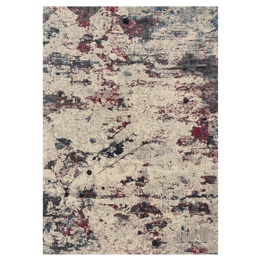 Loloi Dreamscape Drizzle/fuchsia Rectangular Indoor Machine-made Area Rug (Common: 4 X 6; Actual: 3.9-ft W x 5.75-ft L)