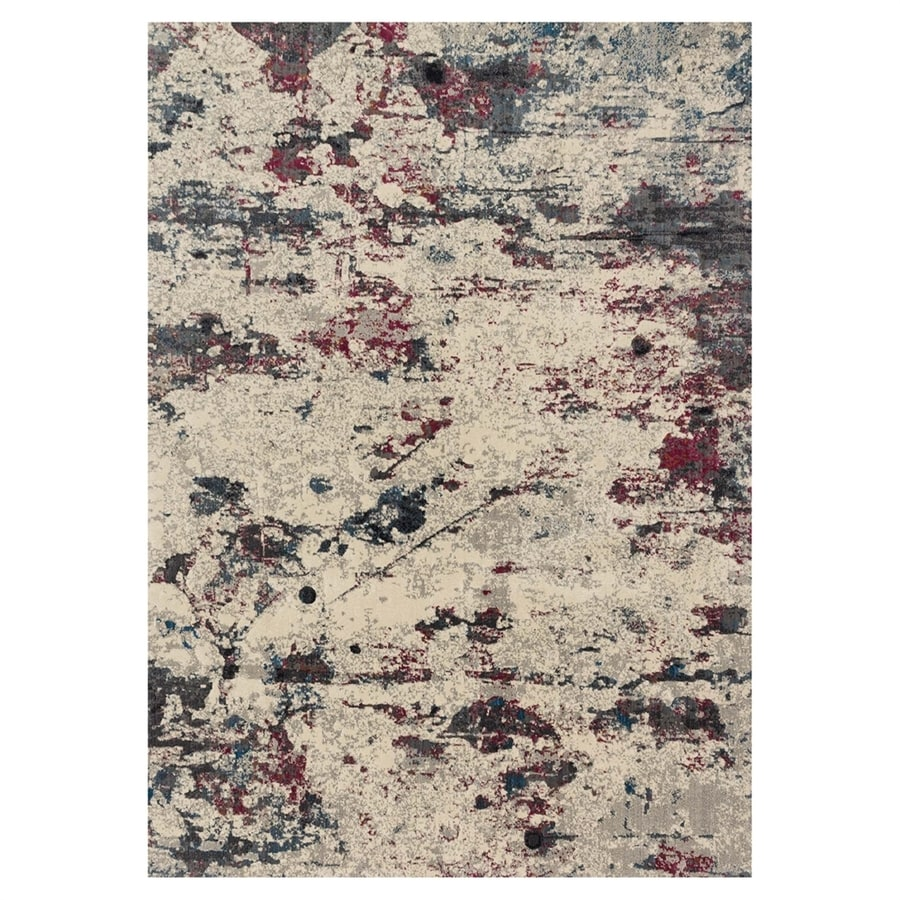 Loloi Dreamscape Drizzle/fuchsia Rectangular Indoor Machine-made Area Rug (Common: 8 X 11; Actual: 7.8-ft W x 11-ft L)