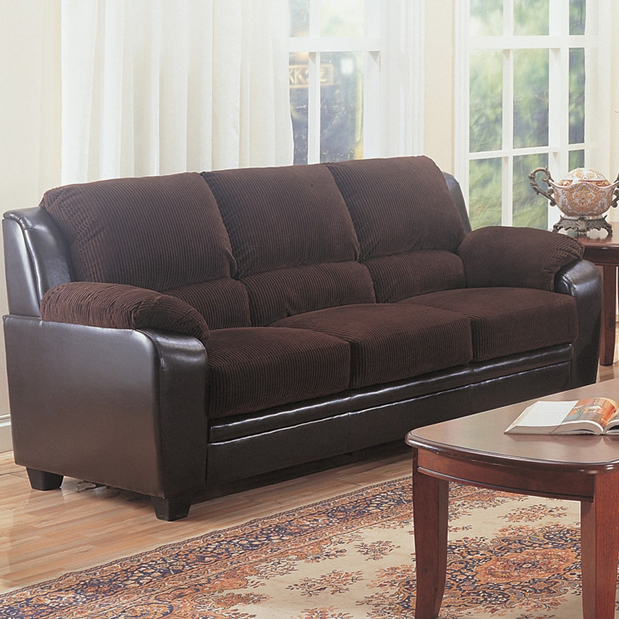 Coaster Fine Furniture Monika Casual Chocolate/Dark Brown Sofa