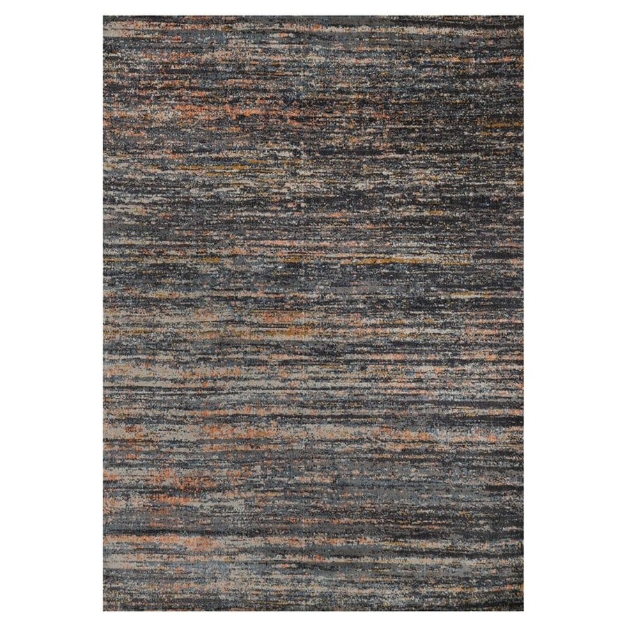 Loloi Dreamscape Slate/orange Rectangular Indoor Machine-made Area Rug (Common: 8 X 11; Actual: 7.8-ft W x 11-ft L)