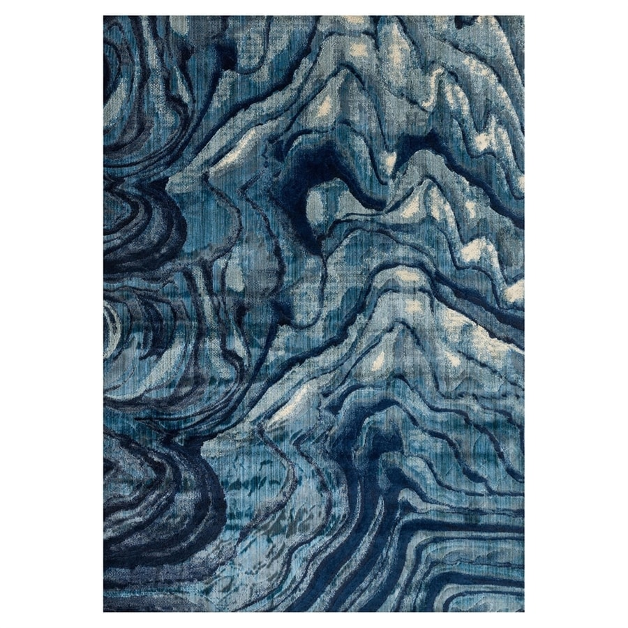 Loloi Dreamscape Indigo/blue Rectangular Indoor Machine-made Throw Rug (Common: 2 X 3; Actual: 1.9-ft W x 3-ft L)