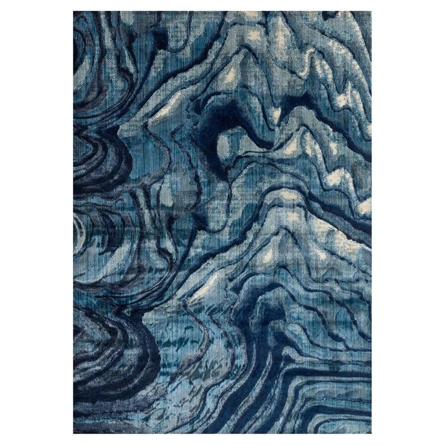 Loloi Dreamscape Indigo/blue Rectangular Indoor Machine-made Area Rug (Common: 4 X 6; Actual: 3.9-ft W x 5.75-ft L)