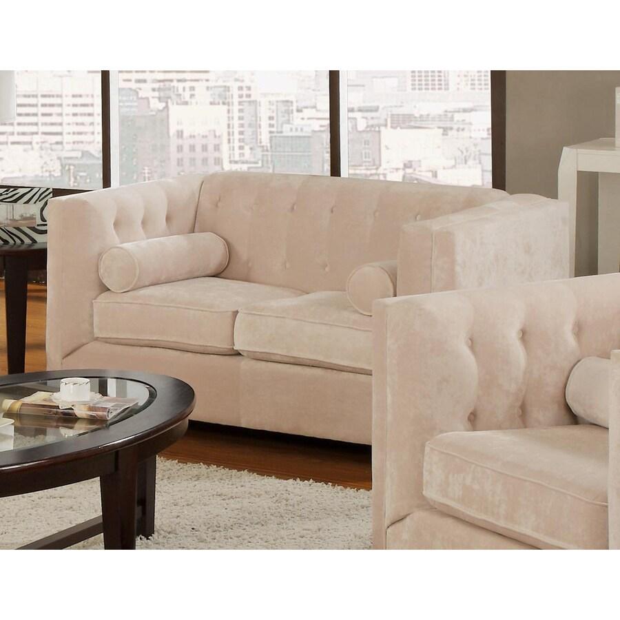 Coaster Fine Furniture Alexis Casual Almond Chenille Loveseat