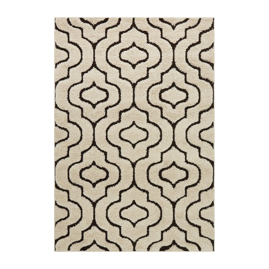 Loloi Enchant Ivory/dark brown Square Indoor Machine-made Moroccan Area Rug (Common: 7 X 7; Actual: 7-ft W x 7-ft L)