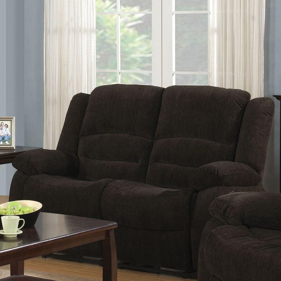 Coaster Fine Furniture Gordon Casual Dark Brown Chenille