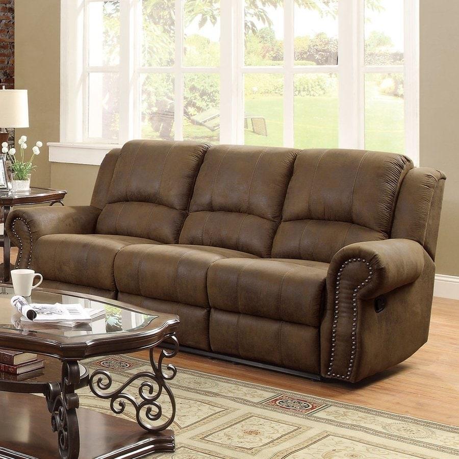 Coaster Fine Furniture Sir Rawlinson Casual Brown Reclining Sofa At