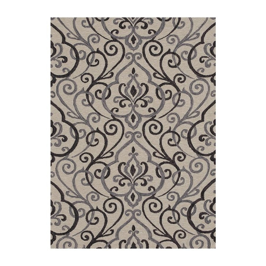 Loloi Francesca Ivory/Gray Rectangular Indoor Handcrafted Area Rug (Common: 7 X 9; Actual: 7-ft 6-in W x 9-ft 6-in L)