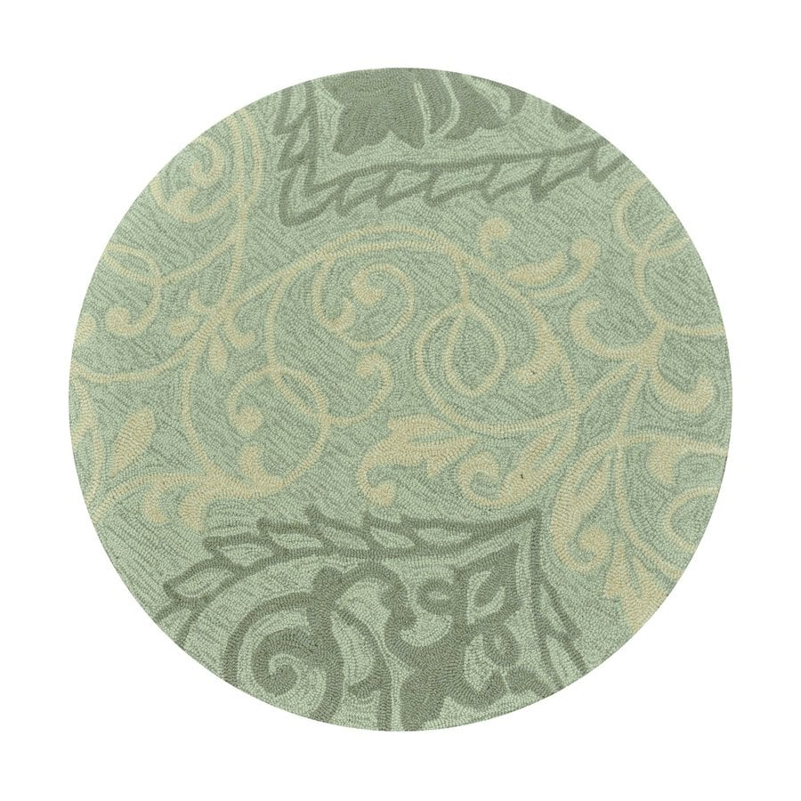 Loloi Francesca Mist Round Indoor Handcrafted Throw Rug (Actual: 3-ft dia)