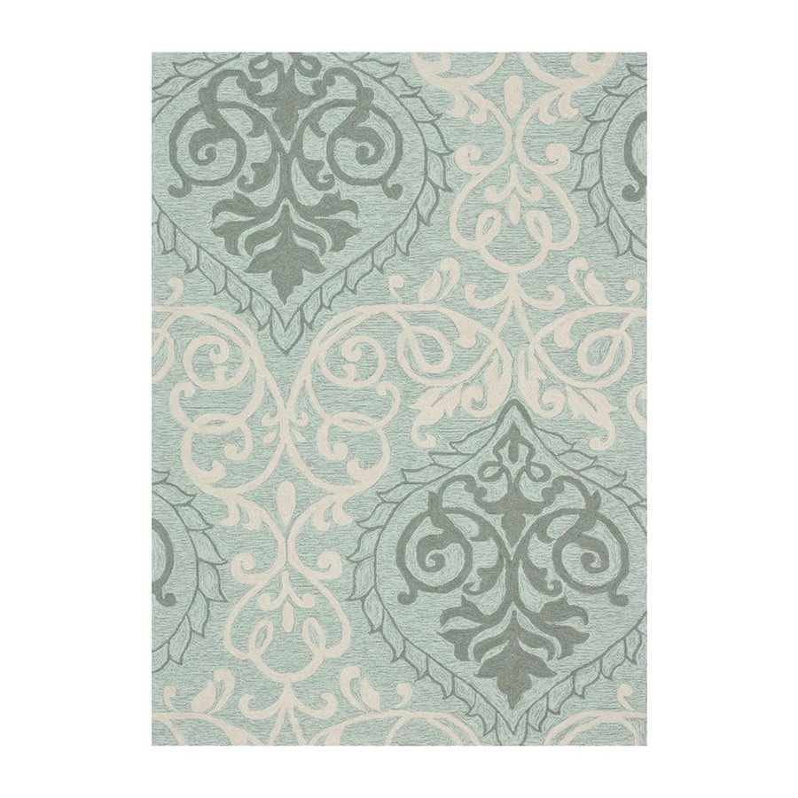 Loloi Francesca Mist Rectangular Indoor Handcrafted Area Rug (Common: 3 X 5; Actual: 3-ft 6-in W x 5-ft 6-in L)