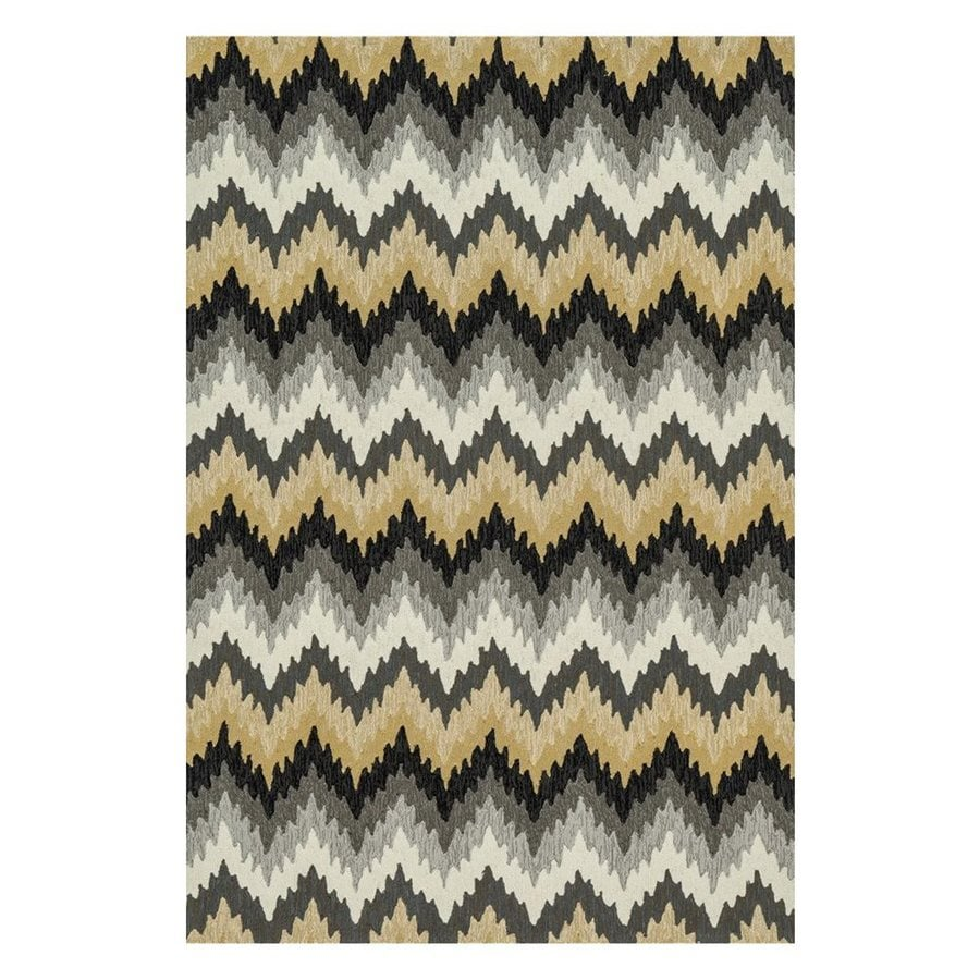 Loloi Francesca Multicolored Rectangular Indoor Handcrafted Area Rug (Common: 5 X 7; Actual: 5-ft W x 7-ft 6-in L)