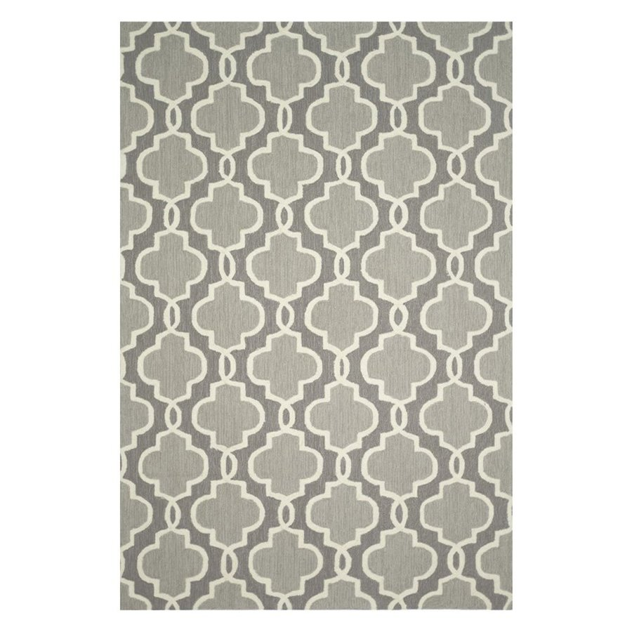 Loloi Francesca Gray Rectangular Indoor Handcrafted Area Rug (Common: 3 X 5; Actual: 3-ft 6-in W x 5-ft 6-in L)