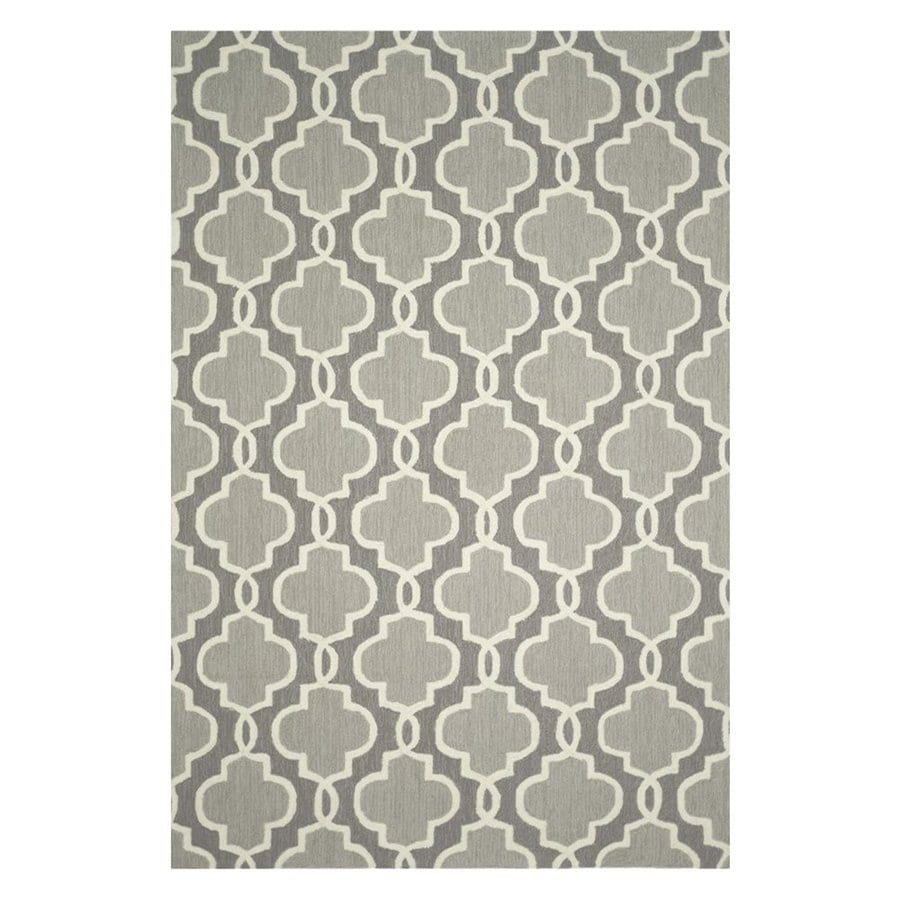 Loloi Francesca Gray Rectangular Indoor Handcrafted Area Rug (Common: 5 X 7; Actual: 5-ft W x 7-ft 6-in L)