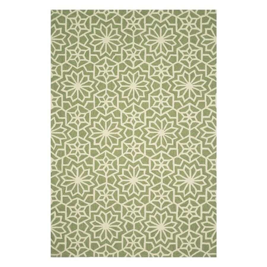 Loloi Francesca Green Rectangular Indoor Handcrafted Area Rug (Common: 3 X 5; Actual: 3-ft 6-in W x 5-ft 6-in L)