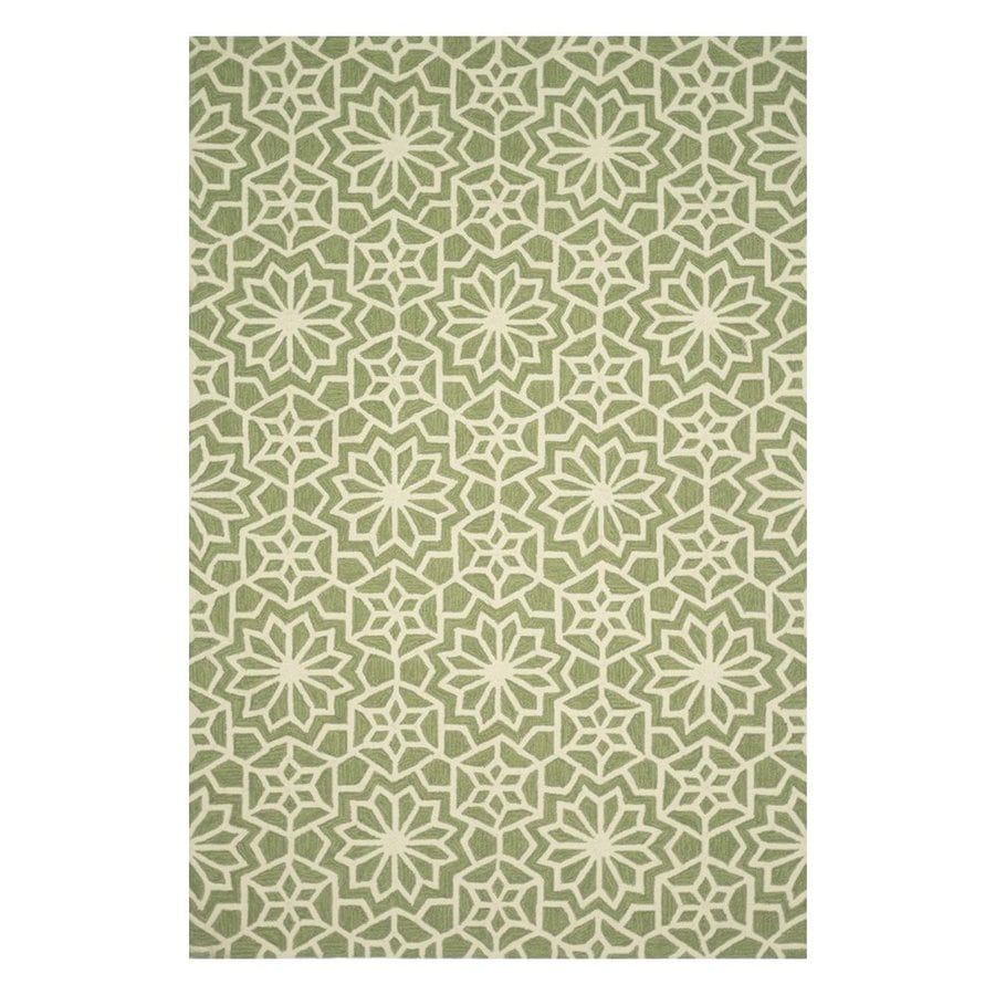 Loloi Francesca Green Rectangular Indoor Handcrafted Area Rug (Common: 7 X 9; Actual: 7-ft 6-in W x 9-ft 6-in L)