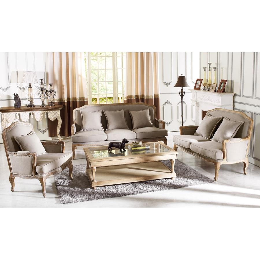 Baxton Studio 3-Piece Constanza Neutral Beige-Grey Living Room Set