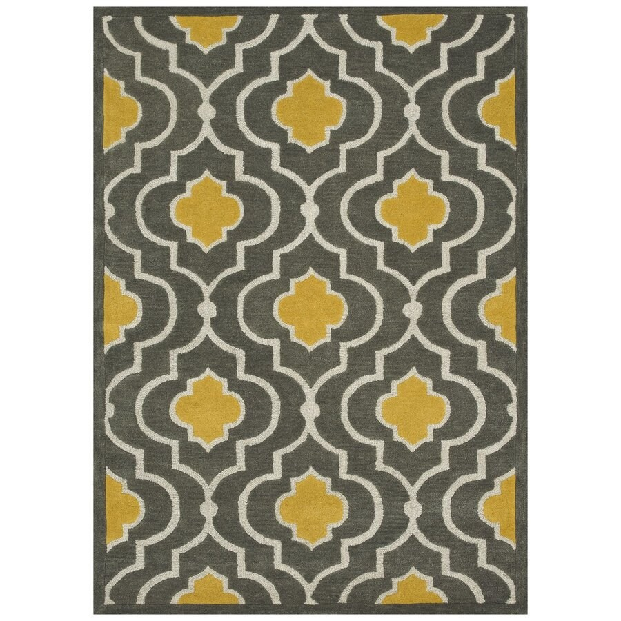 Loloi Brighton Gray/gold Rectangular Indoor Handcrafted Area Rug (Common: 3 X 5; Actual: 3.5-ft W x 5.5-ft L)