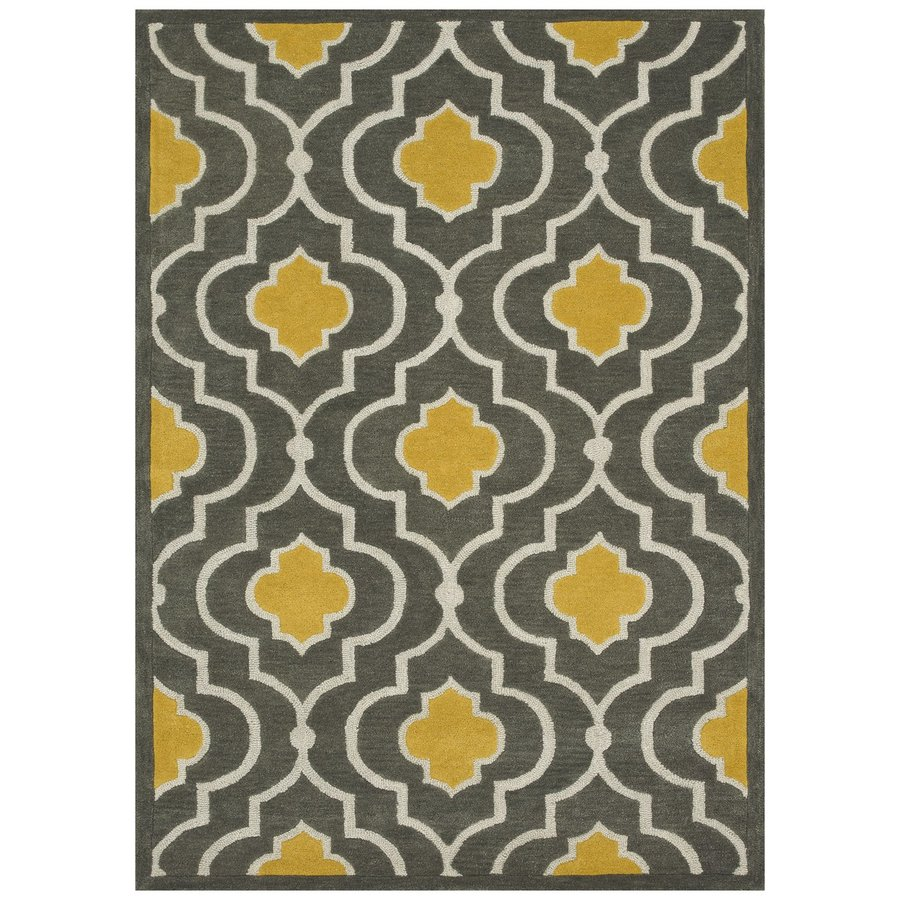Loloi Brighton Gray/gold Rectangular Indoor Handcrafted Area Rug (Common: 5 X 7; Actual: 5-ft W x 7.5-ft L)