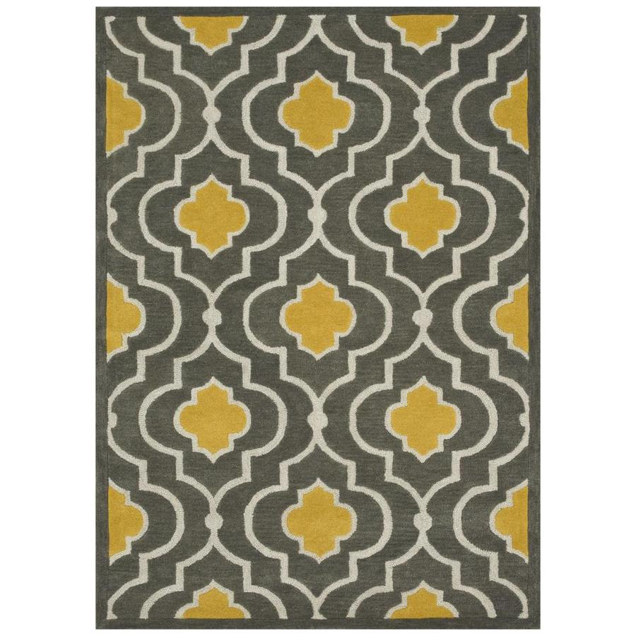 Loloi Brighton Gray/gold Rectangular Indoor Handcrafted Area Rug (Common: 9 X 13; Actual: 9.25-ft W x 13-ft L)