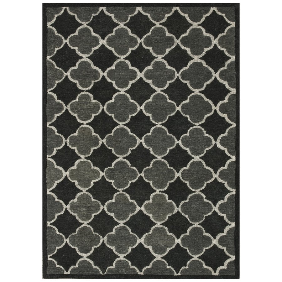 Loloi Brighton Black/gray Rectangular Indoor Handcrafted Area Rug (Common: 3 X 5; Actual: 3.5-ft W x 5.5-ft L)