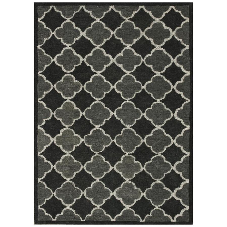 Loloi Brighton Black/gray Rectangular Indoor Handcrafted Area Rug (Common: 8 X 11; Actual: 7.8-ft W x 11-ft L)