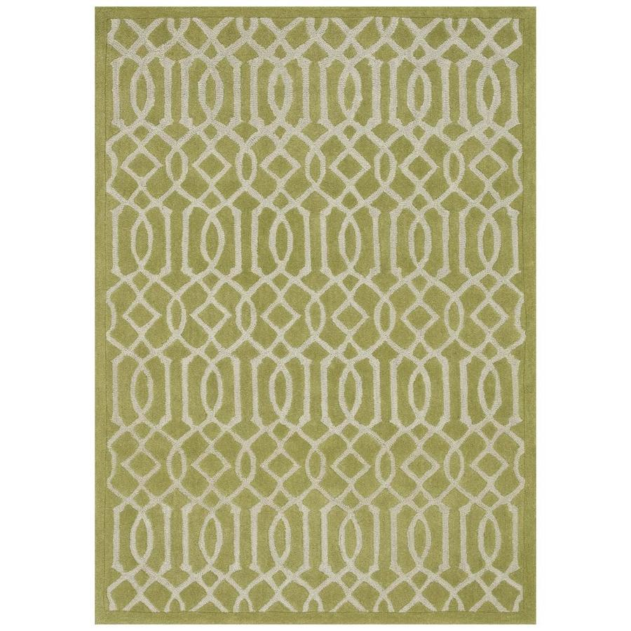 Loloi Brighton Apple Green Rectangular Indoor Handcrafted Area Rug (Common: 3 X 5; Actual: 3.5-ft W x 5.5-ft L)