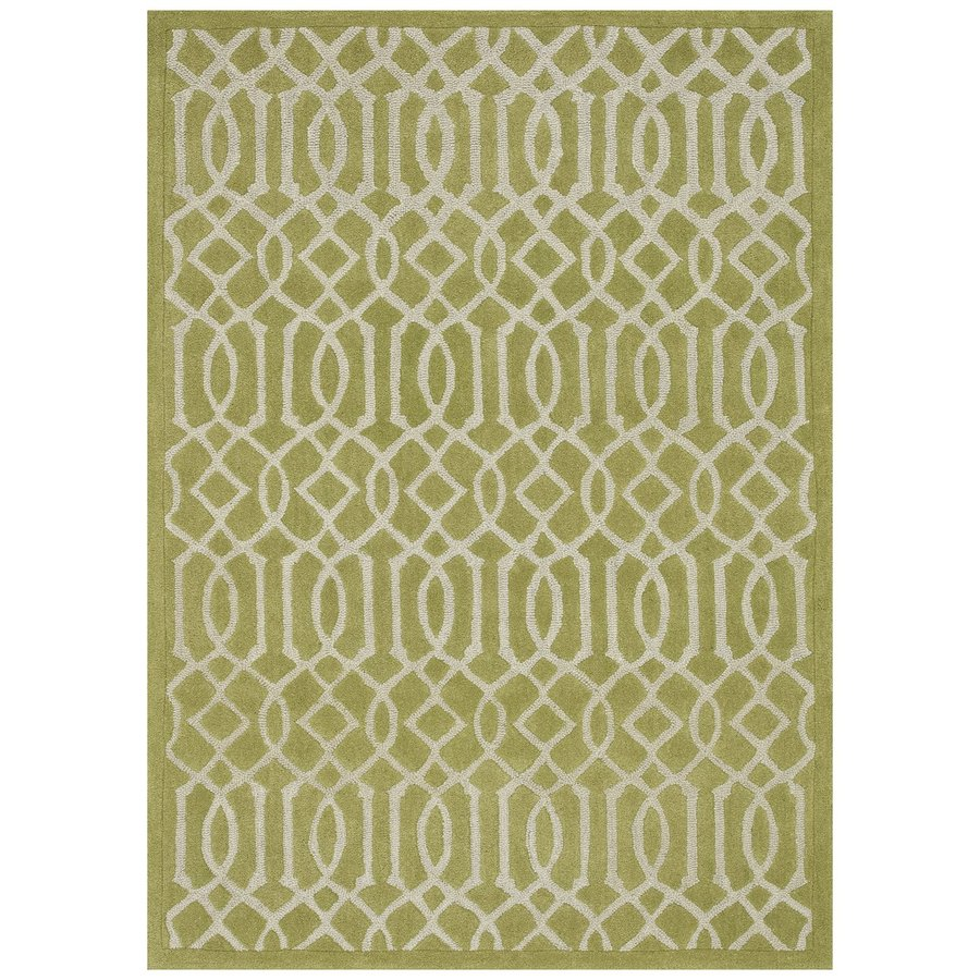 Loloi Brighton Apple Green Rectangular Indoor Handcrafted Area Rug (Common: 5 X 7; Actual: 5-ft W x 7.5-ft L)