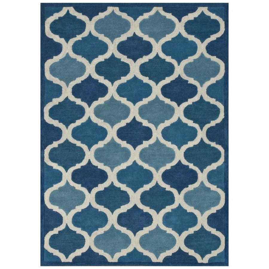 Loloi Brighton Cobalt Blue Rectangular Indoor Handcrafted Area Rug (Common: 3 X 5; Actual: 3.5-ft W x 5.5-ft L)