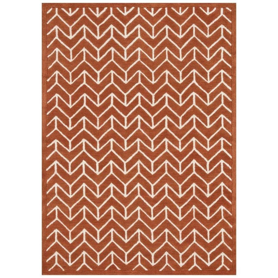 Loloi Brighton Tangerine Rectangular Indoor Handcrafted Area Rug (Common: 9 X 13; Actual: 9.25-ft W x 13-ft L)