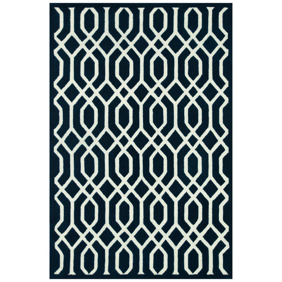 Loloi Brighton Navy Rectangular Indoor Handcrafted Area Rug (Common: 8 X 11; Actual: 7.8-ft W x 11-ft L)