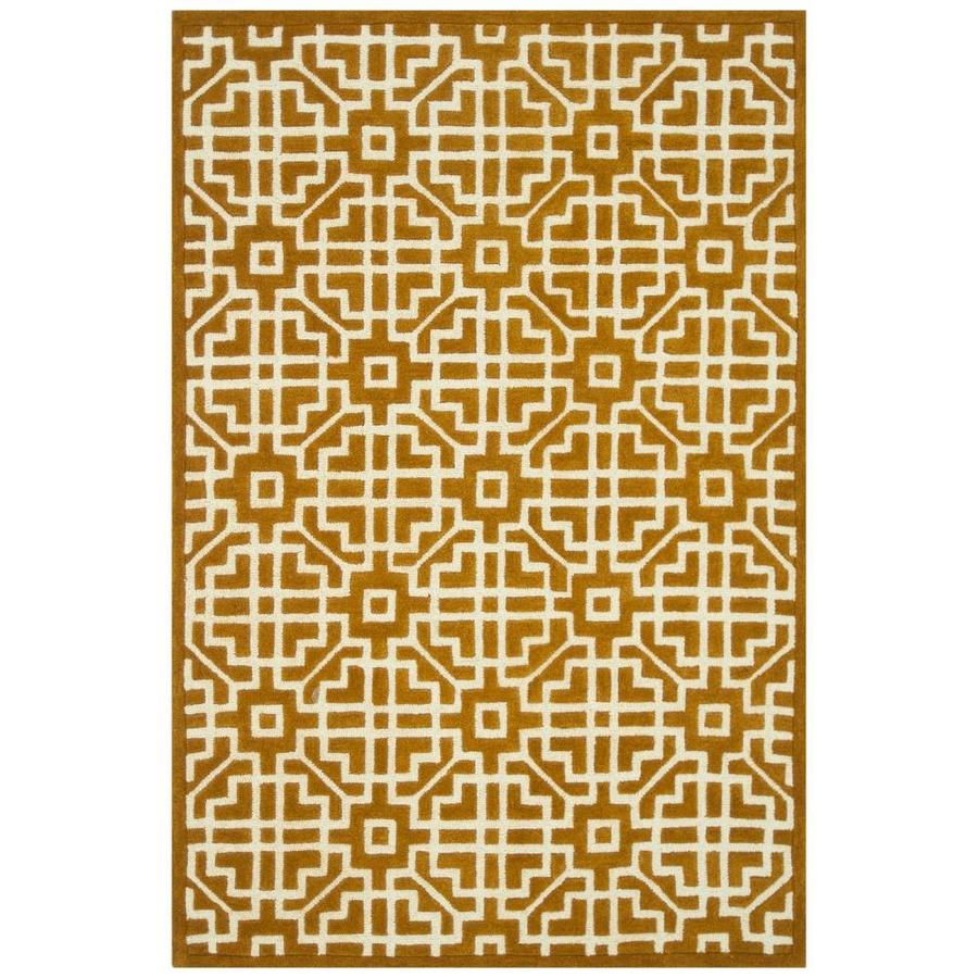 Loloi Brighton Gold Rectangular Indoor Handcrafted Area Rug (Common: 3 X 5; Actual: 3.5-ft W x 5.5-ft L)