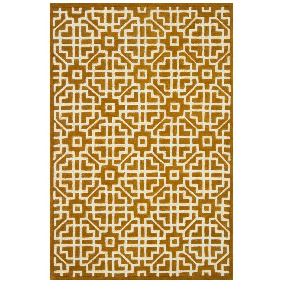 Loloi Brighton Gold Rectangular Indoor Handcrafted Area Rug (Common: 9 X 13; Actual: 9.25-ft W x 13-ft L)