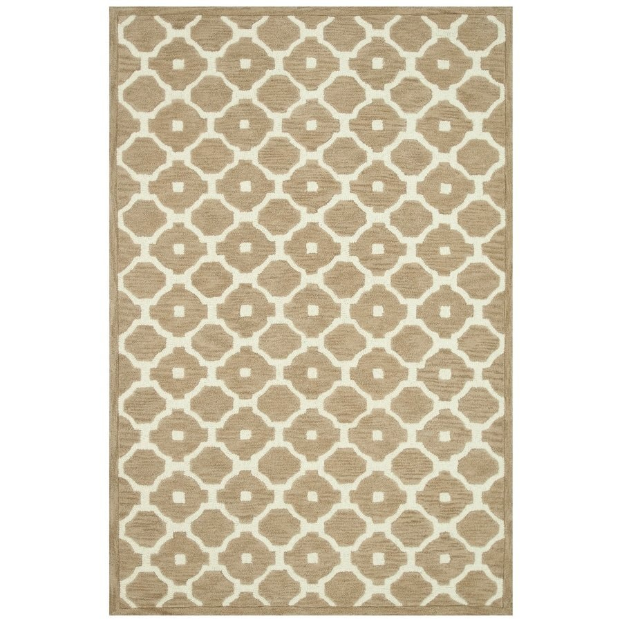 Loloi Brighton Beige Rectangular Indoor Handcrafted Area Rug (Common: 5 X 7; Actual: 5-ft W x 7.5-ft L)