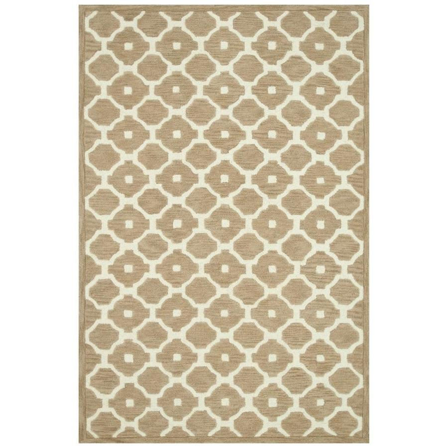 Loloi Brighton Beige Rectangular Indoor Handcrafted Area Rug (Common: 9 X 13; Actual: 9.25-ft W x 13-ft L)