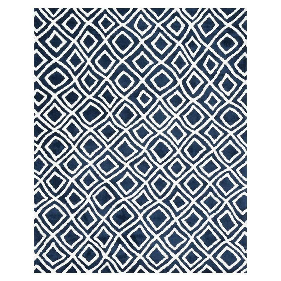 Loloi Charlotte Navy Rectangular Indoor Machine-made Throw Rug (Common: 2 X 4; Actual: 2.25-ft W x 3.75-ft L)