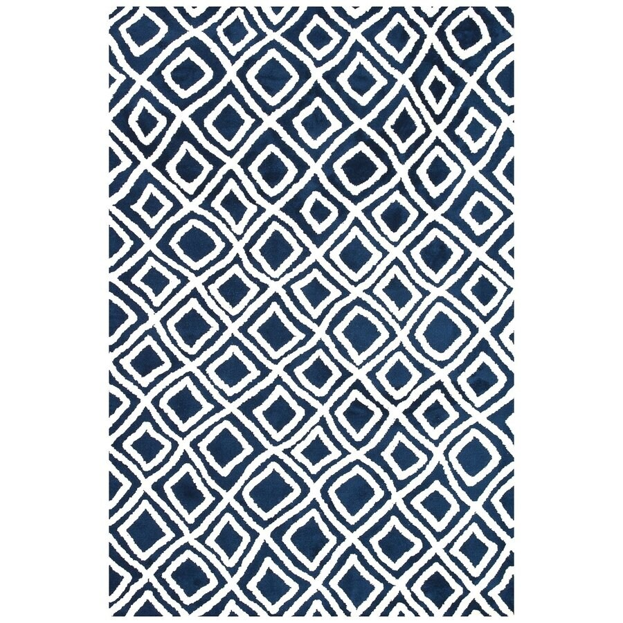 Loloi Charlotte Navy Rectangular Indoor Machine-made Area Rug (Common: 5 X 7; Actual: 5-ft W x 7.5-ft L)