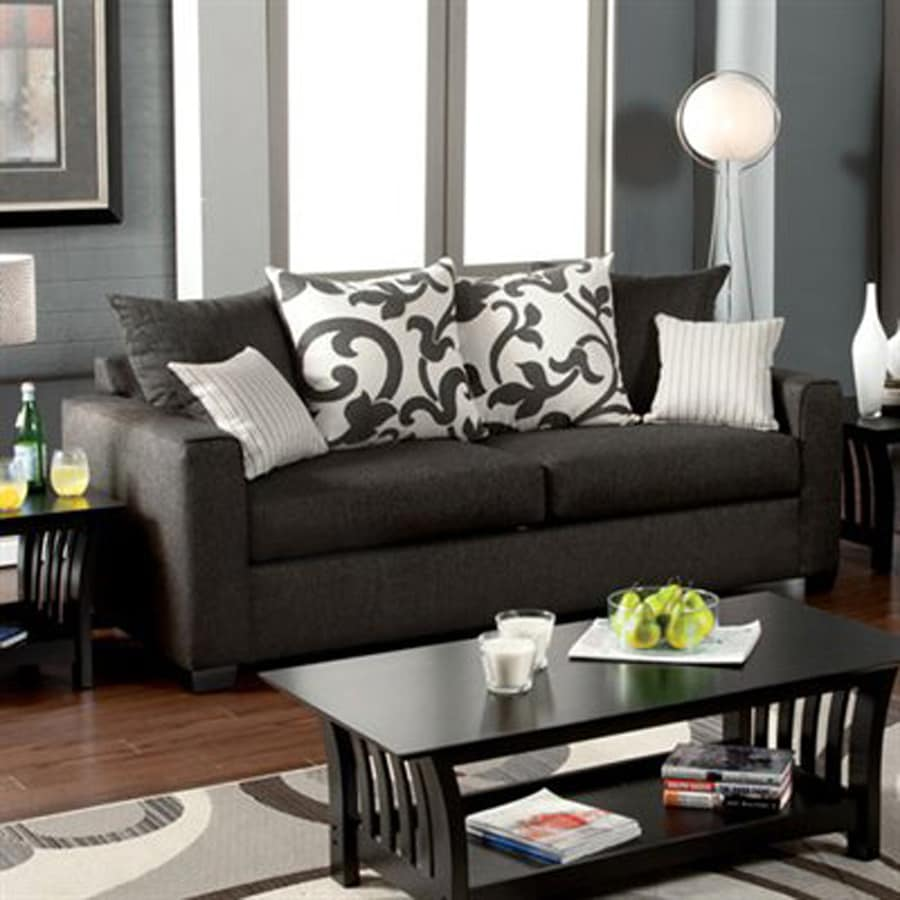 Furniture of America Colebrook Casual Medium Gray Sofa