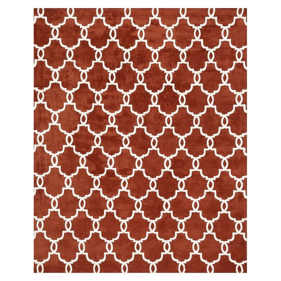 Loloi Charlotte Rust Rectangular Indoor Machine-made Area Rug (Common: 5 X 7; Actual: 5-ft W x 7.5-ft L)