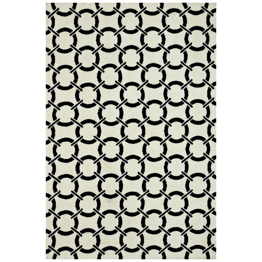Loloi Charlotte Ivory/onyx Rectangular Indoor Machine-made Area Rug (Common: 3 X 5; Actual: 3.5-ft W x 5.5-ft L)