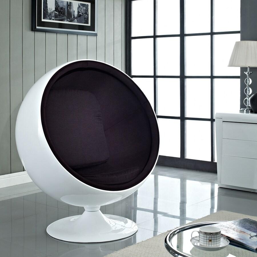 Modway Kaddur Modern Black Accent Chair