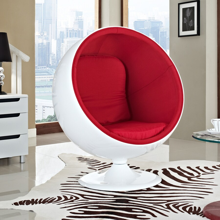 Modway Kaddur Modern Red Accent Chair