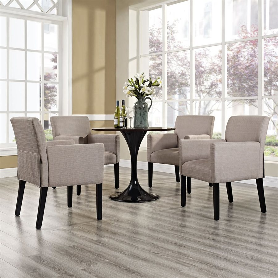 Modway Set of 4 Chloe Casual Beige Club Chairs