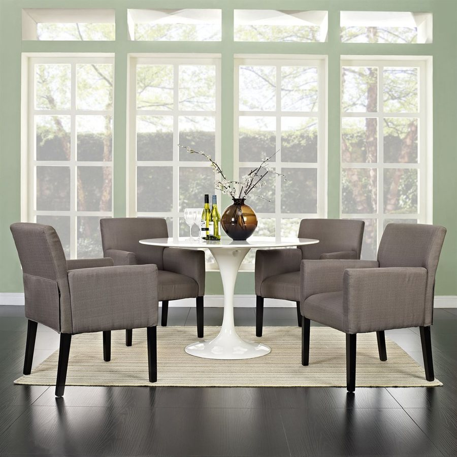 Modway Set of 4 Chloe Casual Gray Club Chairs