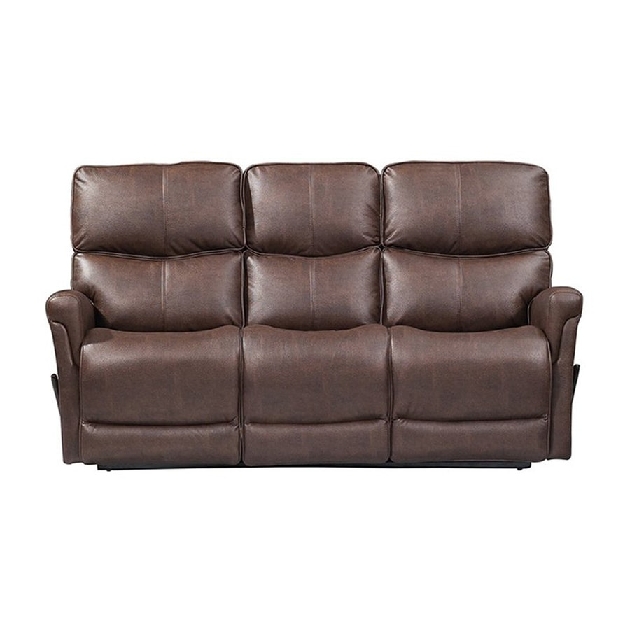 Sunset Trading Easy Living Casual Brown Faux Leather Reclining Sofa