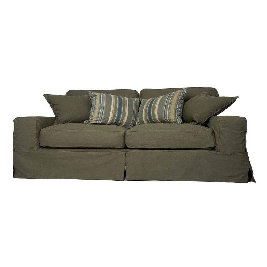 Sunset Trading Americana Casual Forest Green Sofa