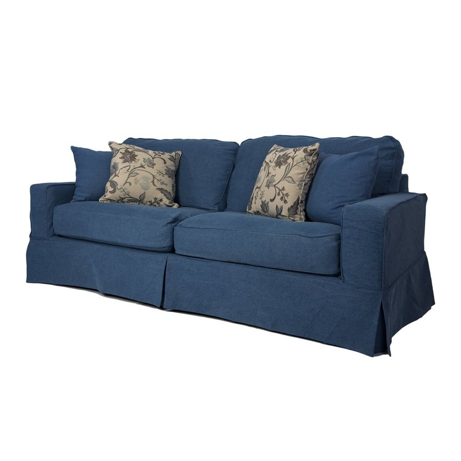 Sunset Trading Americana Casual Indigo Blue Sofa