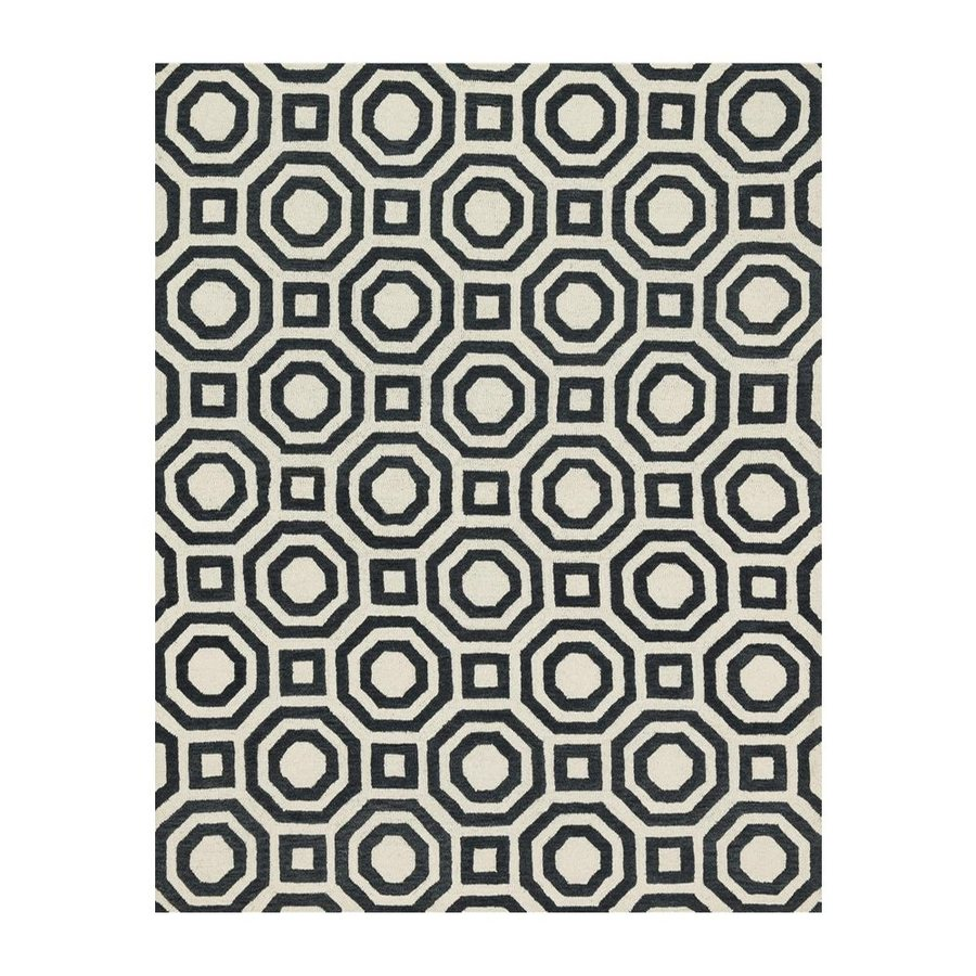 Loloi Weston Black Rectangular Indoor Handcrafted Area Rug (Common: 8 X 10; Actual: 7.75-ft W x 9.75-ft L)