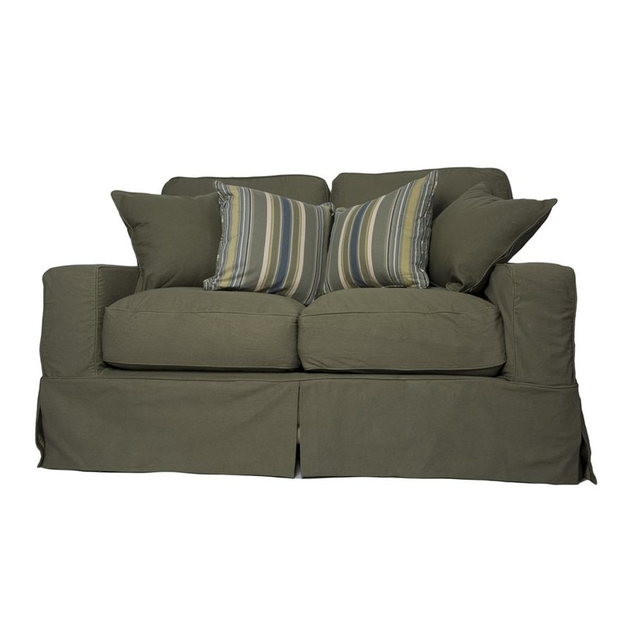 Sunset Trading Americana Casual Forest Green Loveseat